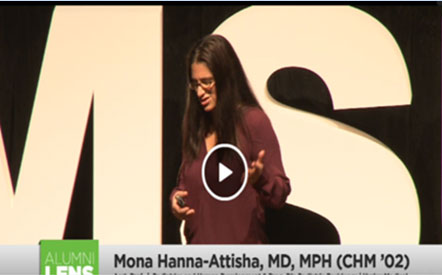 Hurley Pediatrics Program Director Mona Hanna-Attisha MD MPH is a featured TedTalk-style speaker during the 2014 MSU Rx series. Her talk is titled 'What Do You Want To Be When You Grow Up?'